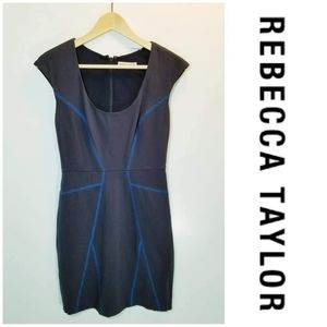 Rebecca Taylor Contrast Stitch Dress